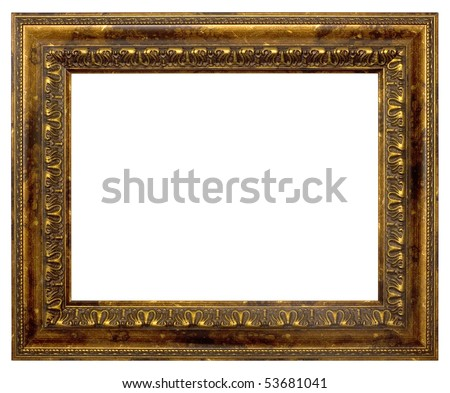 Bronze Frame Painting Photography Isolated On Stock Photo (Edit Now ...