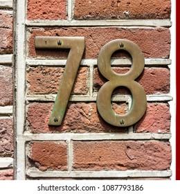 Bronze hous number seventy eight (78)