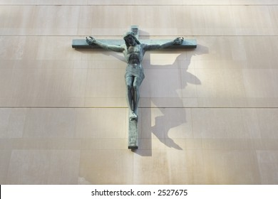 Bronze Jesus on a Cross