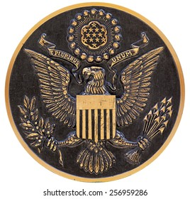 bronze plaque the great seal of the us