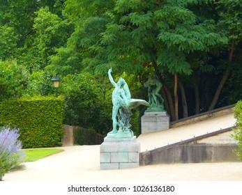 Bronze sculpture in the garden