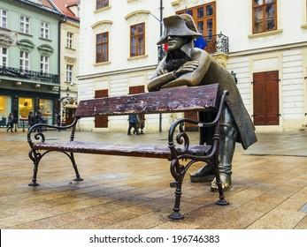 bronze sculpture of Napoleon, Bratislava, Slovakia