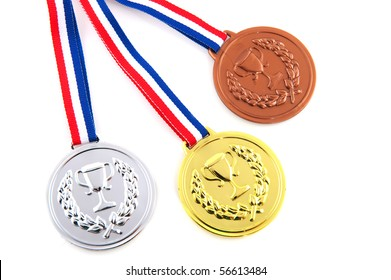 Bronze silver and golden medals for the winners