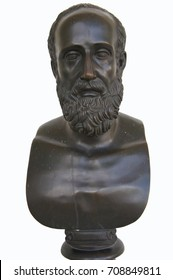 Bronze statue bust of Hippocrates ancient greek physician