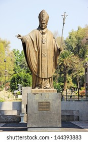 Bronze statue of John Paul II outside the Basilica of Our Lady of Guadalupe (Mexico City)