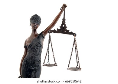 Bronze statue of lady Justice