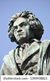 bronze statue of Ludwig van Beethoven in Bonn, Germany