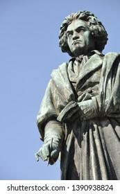 bronze statue of Ludwig van Beethoven in Bonn, Germany