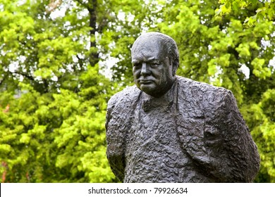 A  bronze statue of Winston Churchill, weighing 1.5 tons and standing ten feet high, is found in Halifax, Nova Scotia, Canada.