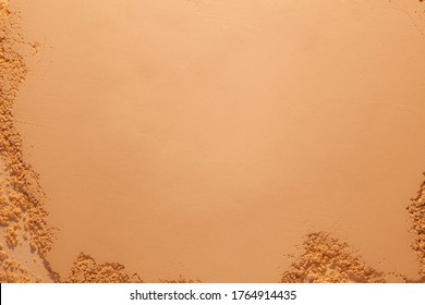 Bronzer or compact powder beige nude textured background