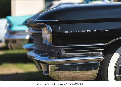 Brooklands Museum / UK - 08/02/2018:   1960 Cadillac Eldorado at American Day.