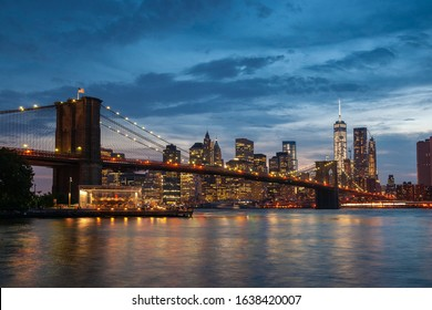 Brookly Bridge, Manhattan New York at Night