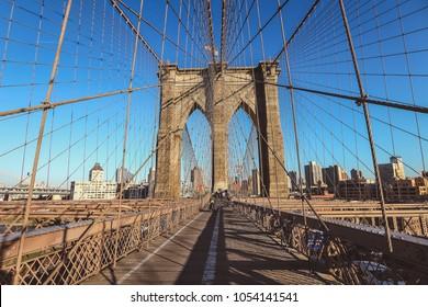 Brooklyn Bridge in a beautiful day, New York