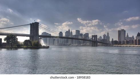 Brooklyn bridge, Downtown Manhattan, New York City