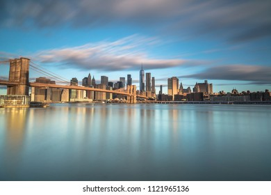 Brooklyn bridge and downtown Manhattan view