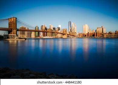 Brooklyn bridge at early morning, New York City