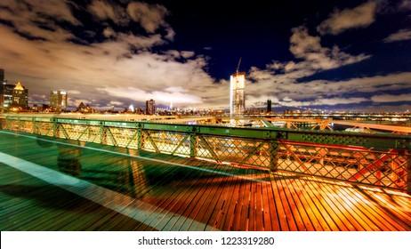Brooklyn Bridge in evening light