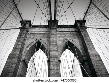 Brooklyn Bridge is a hybrid cable-stayed/suspension bridge in New York City, United States