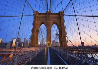 Brooklyn Bridge. Image of the famous Brooklyn Bridge at sunrise.