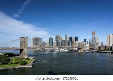 Brooklyn Bridge and Lower Manhattan - NYC