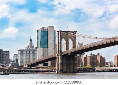 Brooklyn bridge and Manhattan NYC
