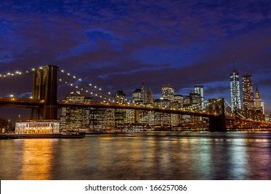 Brooklyn Bridge and Manhattan Skyline, New York City