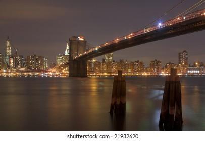 Brooklyn Bridge & Manhattan Skyline, New York City