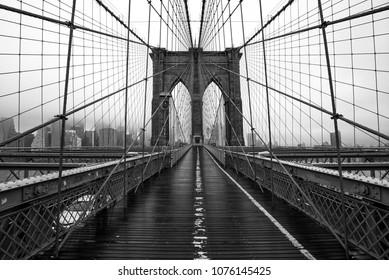 Brooklyn bridge of New York City, USA