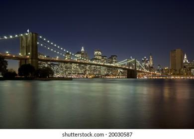 Brooklyn Bridge New York City New York USA