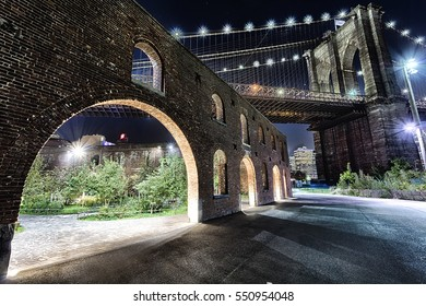 Brooklyn Bridge in New York City in the night