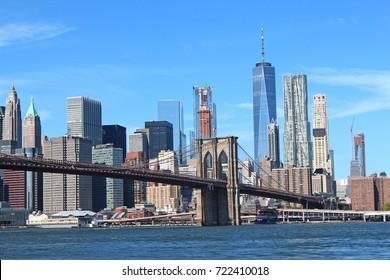 Brooklyn Bridge New York City Skyline