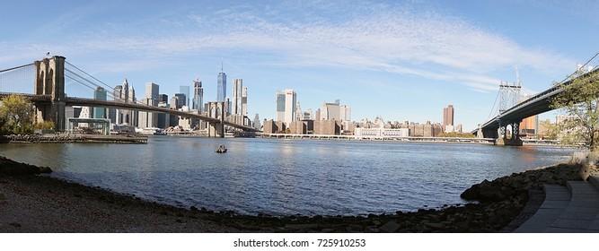 Brooklyn Bridge New York Manhattan Hudson River .