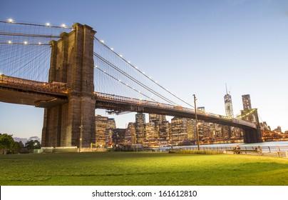 The Brooklyn Bridge Park in New York City