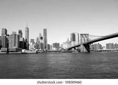 Brooklyn Bridge with skyline  - 2017