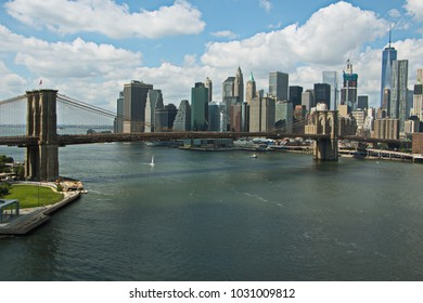 Brooklyn Bridge and Skyline of New York