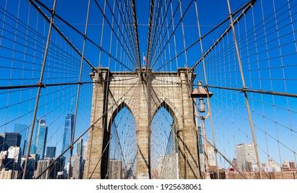 Brooklyn Bridge Symmetric Suspension Cables Detail