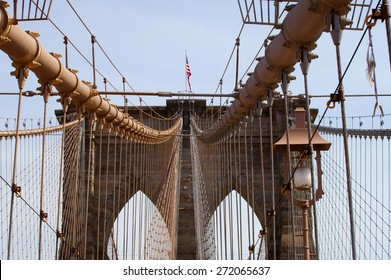 Brooklyn Bridge - view from the middle.