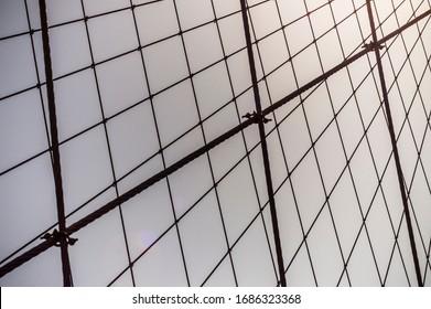 brooklyn bridge wire and mesh