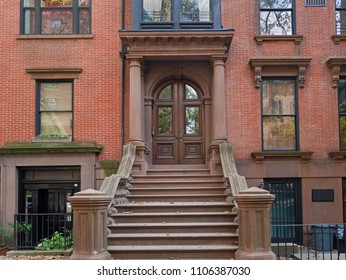 Brooklyn Heights historic brownstone building