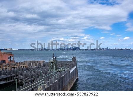 b672d954de8697 Brooklyn Manhattan Jersey City Skyline Seen Stock Photo (Edit Now ...