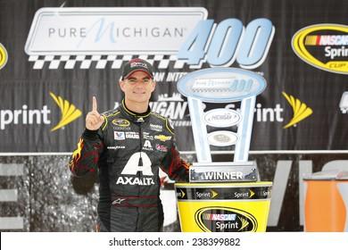 Brooklyn, MI - Aug 17, 2014:  Jeff Gordon (24) wins the Pure Michigan 400 at Michigan International Speedway in Brooklyn, MI.