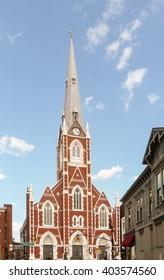 Brooklyn, New York - August 14, 2014: Saint Anthony of Padua Church at Greenpoint.
