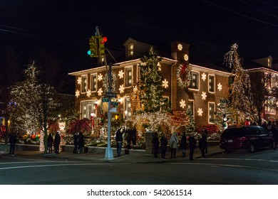 BROOKLYN, NEW YORK - DECEMBER 05, 2016 - Christmas decoration of a house in Dykers Heights, New York City, December 05, 2016 in New York