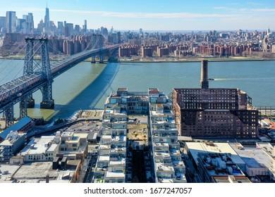 Brooklyn, New York - Feb 17, 2020: 325 Kent Kent Apartment building in Williamsburg, New York.