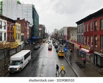 Brooklyn, New York - Fulton Street in the Clinton Hill Neighborhood of Brooklyn, New York.