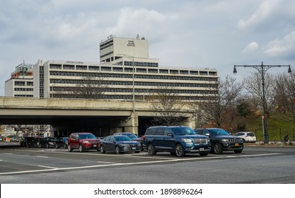 BROOKLYN, NEW YORK - JANUARY 19, 2021: Coney Island Hospital in Brooklyn, New York