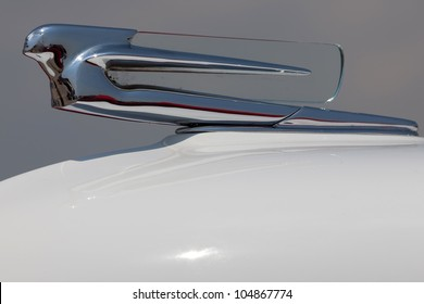 BROOKLYN, NEW YORK - JUNE 10: Closeup of the vintage American car hood ornament at the Antique Automobile Association of Brooklyn Annual Show on June 10, 2012 in Brooklyn, New York, USA.
