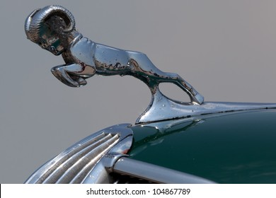 BROOKLYN, NEW YORK - JUNE 10: Closeup of the 1936 Dodge hood ornament at the Antique Automobile Association of Brooklyn Annual Show on June 10, 2012 in Brooklyn, New York, USA.