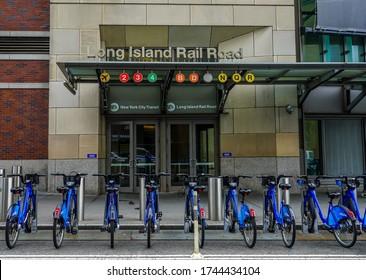BROOKLYN, NEW YORK - MAY 29, 2020: Atlantic Terminal - Long Island Rail Road located at Flatbush Avenue and Atlantic Avenue in Downtown Brooklyn, New York City
