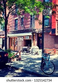 Brooklyn, New York, USA: circa June 2012; Daytime street scene of the borough of Brooklyn in New York City